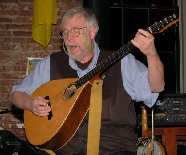 Bill Reese with his bouzouki